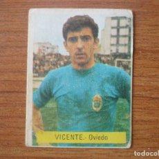 Cromos de Fútbol: CROMO FUTBOL FINI 75 76 VICENTE (OVIEDO) - NUNCA PEGADO - LIGA 1975 1976 . Lote 162476610