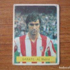 Cromos de Fútbol: CROMO FUTBOL FINI 75 76 GARATE (ATLETICO MADRID) - NUNCA PEGADO - LIGA 1975 1976. Lote 162477290