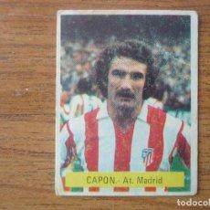 Cromos de Fútbol: CROMO FUTBOL FINI 75 76 CAPON (ATLETICO MADRID) - NUNCA PEGADO - LIGA 1975 1976. Lote 162477446