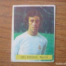 Cromos de Fútbol: CROMO FUTBOL FINI 75 76 VICENTE DEL BOSQUE (REAL MADRID) - NUNCA PEGADO - LIGA 1975 1976. Lote 162477618