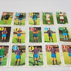 Cromos de Fútbol: 15 NAIPES ASES Y ESTRELLAS AÑOS 70 FC BARCELONA IRIBAR REINA REXACH MARCIAL ESNAOLA 1970 1971. Lote 162510036