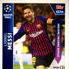 Cromos de Fútbol: OD 27 MESSI - BARCELONA - QUARTER FINALS - ON DEMAND - TOPPS UEFA CHAMPIONS LEAGUE MATCH ATTAX 18 19. Lote 162790794