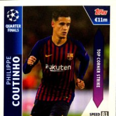 Cromos de Fútbol: OD 26 COUTINHO - BARCELONA - QUARTER FINALS ON DEMAND TOPPS UEFA CHAMPIONS LEAGUE MATCH ATTAX 18 19. Lote 162791442