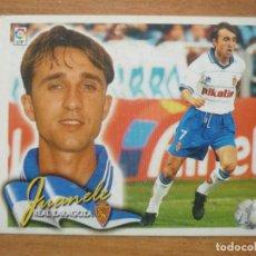 Cromos de Fútbol: CROMO LIGA ESTE 00 01 JUANELE (ZARAGOZA) - NUNCA PEGADO - 2000 2001. Lote 163088218