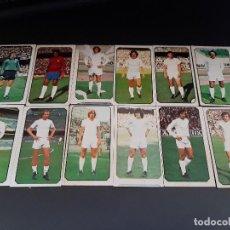 Cromos de Fútbol: ESTE 77-78 * LOTE DE 12 CROMOS DEL REAL MADRID (RECUPERADOS). Lote 163397718