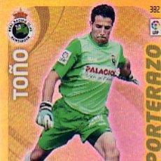 Cromos de Fútbol: ADRENALYN 2011 2012 - Nº 382 TOÑO (PORTERAZO) - RACING SANTANDER. Lote 163951934