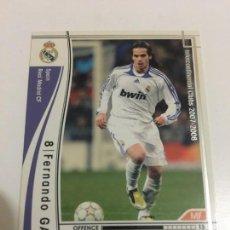 Cromos de Fútbol: CROMO CARD WCCF LIGA 2007-08 PANINI DE JAPON REAL MADRID GAGO TENGO MÁS MIRA MIS LOTES. Lote 164326774
