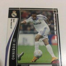 Cromos de Fútbol: CROMO CARD WCCF LIGA 2007-08 PANINI DE JAPON REAL MADRID ROBINHO TENGO MÁS MIRA MIS LOTES. Lote 164327442