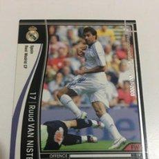 Cromos de Fútbol: CROMO CARD WCCF LIGA 2007-08 PANINI DE JAPON REAL MADRID VAN NISTELROOY TENGO MÁS MIRA MIS LOTES. Lote 164328778