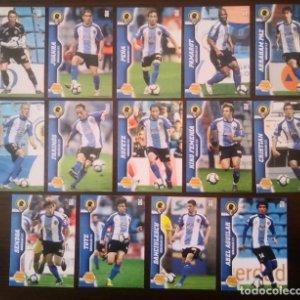 Lote 14 cromos Hércules C.F. equipo Liga 2010 2011 10 11 Mega cracks Panini Megacracks