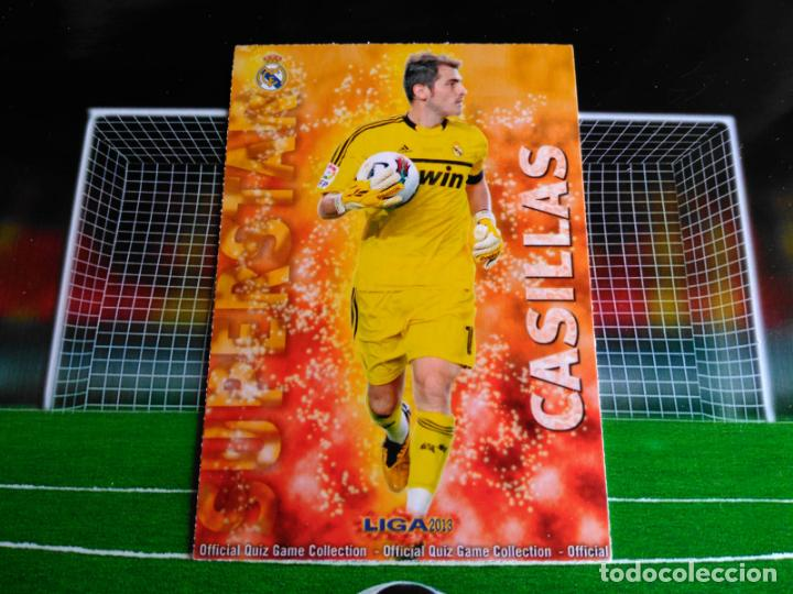 23 CASILLAS SUPERSTAR MATE REAL MADRID CROMOS MUNDICROMO FUTBOL QUIZ GAME 2012 2013 12 13 (Coleccionismo Deportivo - Álbumes y Cromos de Deportes - Cromos de Fútbol)