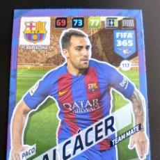 Cromos de Fútbol - 117 ALCACER BARCELONA TEAM MATE ADRENALYN FIFA 365 2017 2018 17 18 CROMOS NUEVO FUTBOL - 164526662