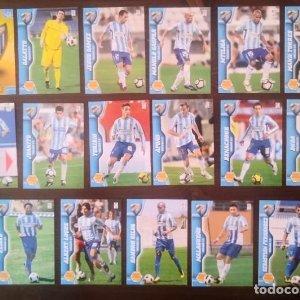 Lote 17 cromos Malaga C.F. Equipo Liga 2010 2011 10 11 Mega cracks Panini Megacracks
