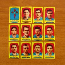 Cromos de Fútbol: CELTA DE VIGO - EQUIPO COMPLETO - AZAFRÁN POLLUELOS 1954-1955, 54-55 - NOVELDA - NUNCA PEGADOS. Lote 164528898