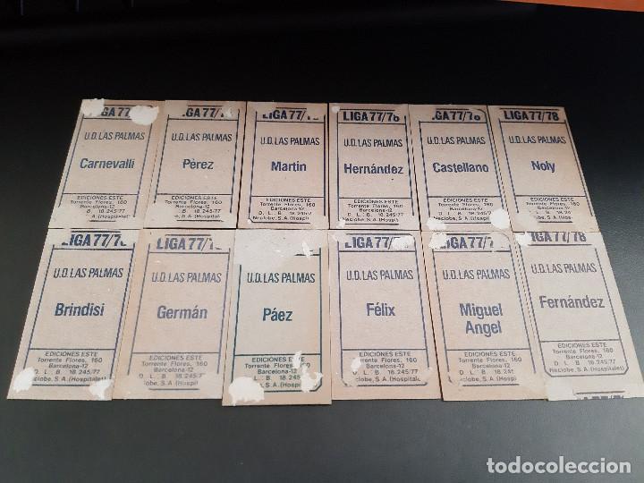 Cromos de Fútbol: ESTE LIGA 77/78 * LOTE DE 12 CROMOS DE LAS PALMAS (RECUPERADOS) - Foto 2 - 164545790