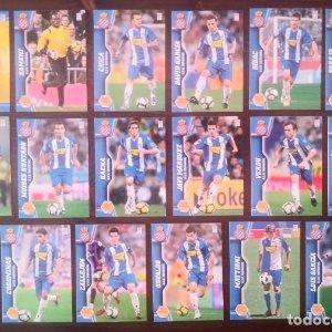 Lote 17 cromos RCD Espanyol de Barcelona. Equipo Liga 2010 2011 10 11 Mega cracks Panini Megacracks