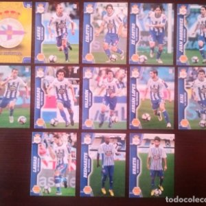Lote 13 cromos R.C. Deportivo Equipo Liga 2010 2011 10 11 Mega cracks Panini Megacracks