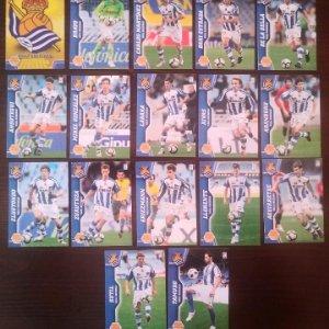 Lote 17 cromos Real Sociedad Equipo Liga 2010 2011 10 11 Mega cracks Panini Megacracks