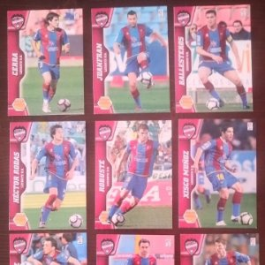 Lote 9 cromos Levante U.D. Equipo Liga 2010 2011 10 11 Mega cracks Panini Megacracks