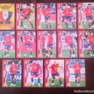 Lote 14 cromos C. At. Osasuna Equipo Liga 2010 2011 10 11 Mega cracks Panini Megacracks