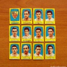 Cromos de Fútbol: SEVILLA - EQUIPO COMPLETO - AZAFRÁN POLLUELOS 1954-1955, 54-55 - NOVELDA - NUNCA PEGADOS. Lote 164575254