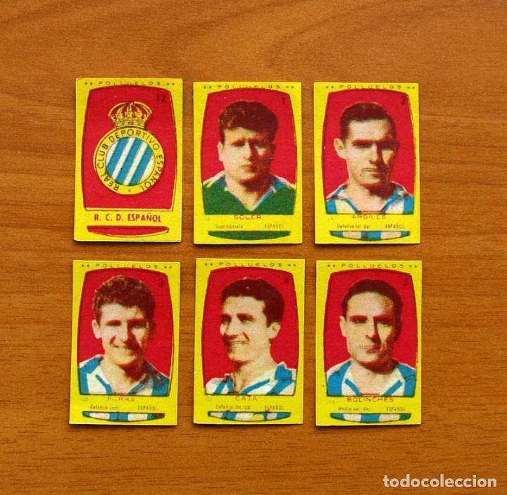 Cromos de Fútbol: R.C.D. Español, Espanyol -Equipo Completo-Azafrán Polluelos 1954-1955, 54-55 - Novelda-Nunca pegados - Foto 2 - 164575386