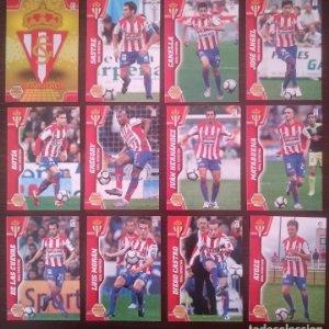 Lote 12 cromos Real Sporting de Gijón. Equipo Liga 2010 2011 10 11 Mega cracks Panini Megacracks