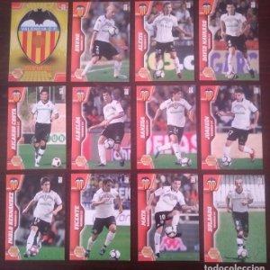 Lote 12 cromos Valencia C.F.. Equipo Liga 2010 2011 10 11 Mega cracks Panini Megacracks