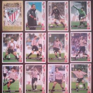 Lote de 16 cromos Athletic Club de Bilbao. Las fichas de la liga 98 99 sport. Mundicromo 1998 1999