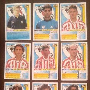 Lote de 10 cromos Athletic Club de Bilbao. Las fichas de la liga 98 99 sport. Mundicromo 1998 1999