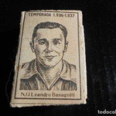 Cromos de Fútbol: LIGA 1936 1937 GUERRA CIVIL - LEANDRO BASAGOITI DEL ARENAS DE GETXO - CAJA DE CERILLAS. Lote 164616122