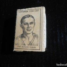 Cromos de Fútbol: LIGA 1936 1937 GUERRA CIVIL - ANTONIO CONDE DEL VALENCIA - CAJA DE CERILLAS. Lote 164616362