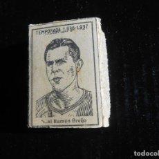 Cromos de Fútbol: LIGA 1936 1937 GUERRA CIVIL - RAMON BRIJO DEL CORUÑA - CAJA DE CERILLAS. Lote 164617030