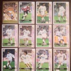 Cromos de Fútbol: LOTE DE 13 CROMOS REAL MADRID. LAS FICHAS DE LA LIGA 98 99 SPORT. MUNDICROMO 1998 1999. Lote 164622522