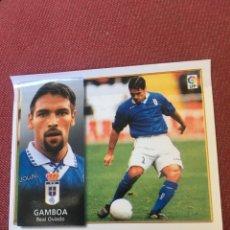Cromos de Fútbol: ESTE 98 99 1998 1999 OVIEDO VENTANILLA GAMBOA VENTANILLA. Lote 164891437