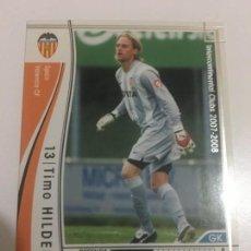 Cromos de Fútbol: CROMO CARD WCCF LIGA 2007-08 PANINI DE JAPÓN VALENCIA CF HILDEBRAND (TENGO MÁS MIRA MIS LOTES). Lote 164920670