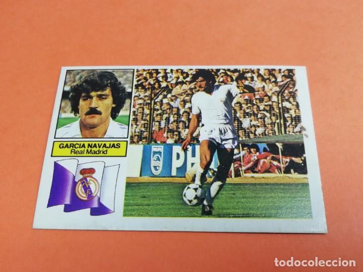 ESTE LIGA 82/83 GARCÍA NAVAJAS REAL MADRID NUNCA PEGADO (Coleccionismo Deportivo - Álbumes y Cromos de Deportes - Cromos de Fútbol)