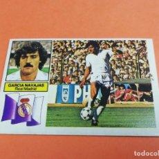 Cromos de Fútbol: ESTE LIGA 82/83 GARCÍA NAVAJAS REAL MADRID NUNCA PEGADO . Lote 165126650