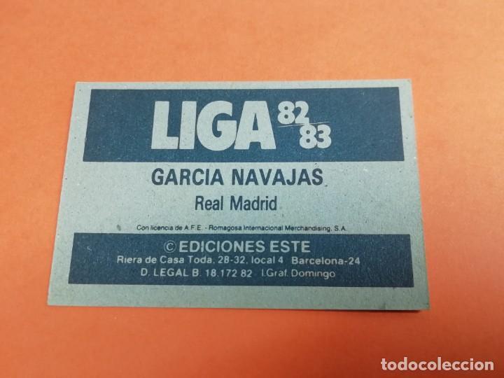 Cromos de Fútbol: Este liga 82/83 García navajas Real Madrid Nunca pegado - Foto 2 - 165126650