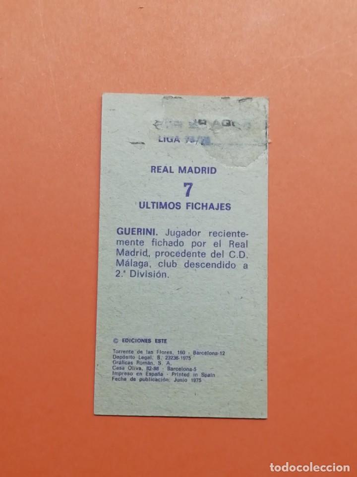 Cromos de Fútbol: Este liga 75/76 Fichaje N° 7 Guerini Real Madrid.. Difícil.. - Foto 2 - 165127230