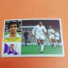 Cromos de Fútbol: ESTE LIGA 82/83 GARCÍA CORTES REAL MADRID SIN PUBLICIDAD NUNCA PEGADO . Lote 165127586