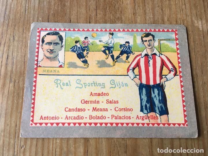 R6032 CROMO JUGADOR MEANA SPORTING GIJON CHOCOLATES E. JUNCOSA SIN PEGAR (Coleccionismo Deportivo - Álbumes y Cromos de Deportes - Cromos de Fútbol)