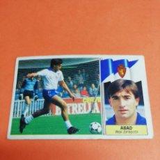 Cromos de Fútbol: ESTE LIGA 86 /87.. COLOCA.. ABAD.. REAL ZARAGOZA.. NUNCA PEGADO.. SIN PEGAR.. . Lote 165259910