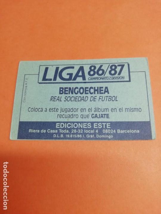 Cromos de Fútbol: Este liga 86 /87.. Coloca.. BENGOECHEA.. Real Sociedad.. Nunca pegado.. Sin pegar... - Foto 2 - 165260190