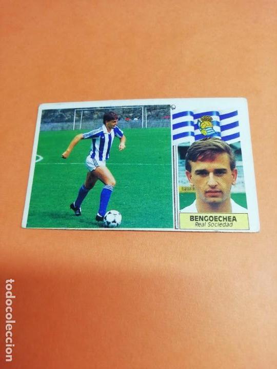 ESTE LIGA 86 /87.. COLOCA.. BENGOECHEA.. REAL SOCIEDAD.. NUNCA PEGADO.. SIN PEGAR... (Coleccionismo Deportivo - Álbumes y Cromos de Deportes - Cromos de Fútbol)