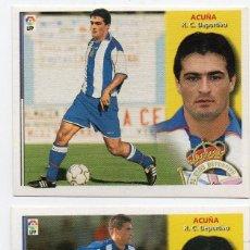 Cromos de Fútbol: ACUÑA, FICHAJE 9,DOBLE IMAGEN 2002-2003, NO HAY DESCUENTO DE ESTE ARTICULO,. Lote 165317690