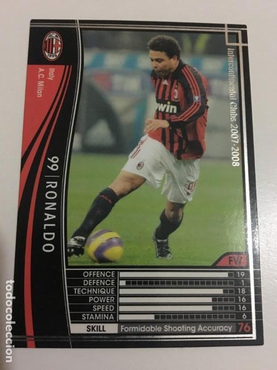 CROMO CARD WCCF LIGA 2007-08 PANINI DE JAPÓN MILAN RONALDO , TENGO MÁS MIRA MIS LOTES (Coleccionismo Deportivo - Álbumes y Cromos de Deportes - Cromos de Fútbol)