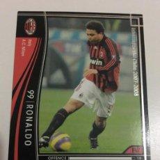 Cromos de Fútbol: CROMO CARD WCCF LIGA 2007-08 PANINI DE JAPÓN MILAN RONALDO , TENGO MÁS MIRA MIS LOTES. Lote 165415350