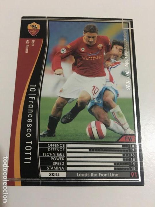 CROMO CARD WCCF LIGA 2007-08 PANINI DE JAPÓN ROMA TOTTI , TENGO MÁS MIRA MIS LOTES (Coleccionismo Deportivo - Álbumes y Cromos de Deportes - Cromos de Fútbol)