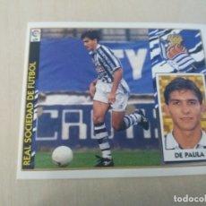 Cromos de Fútbol: EDICIONES ESTE 97 98 DE PAULA REAL SOCIEDAD CROMO NUEVO SIN PEGAR. Lote 288439883